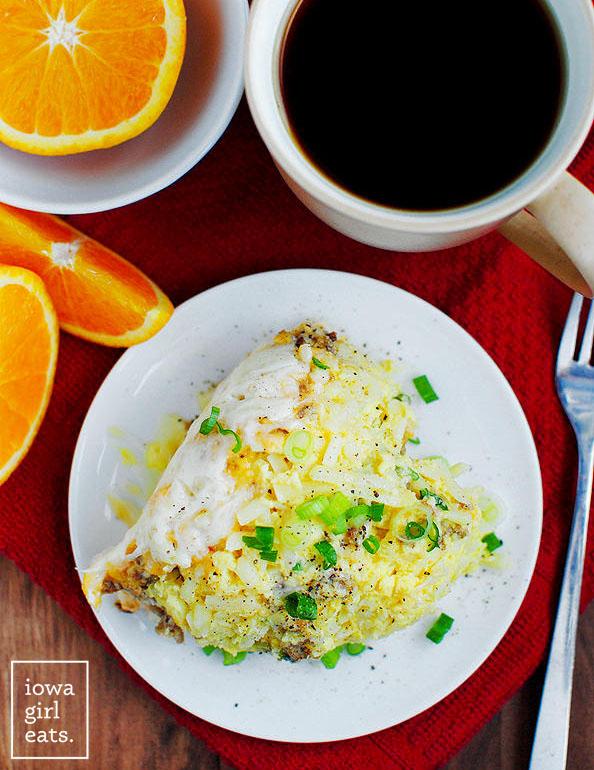 Picture of Crock Pot Breakfast Casserole on a plate.