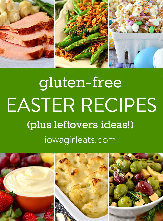 photo collage of gluten free Easter recipes
