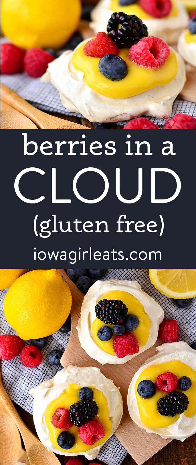 photo collage of berries in a cloud