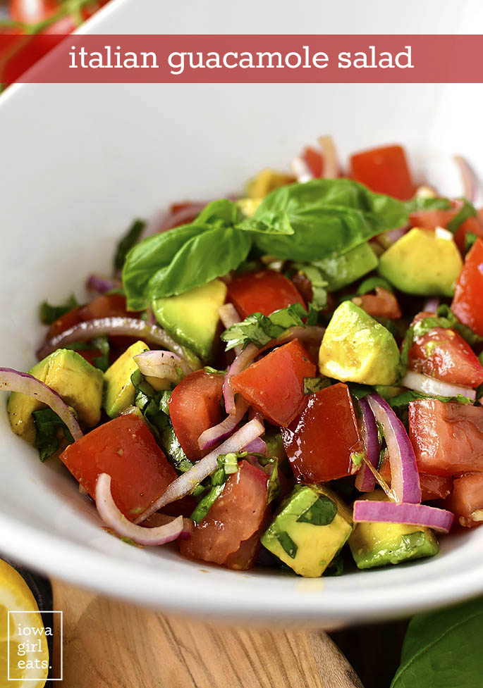 Bowl of Italian Guacamole Salad