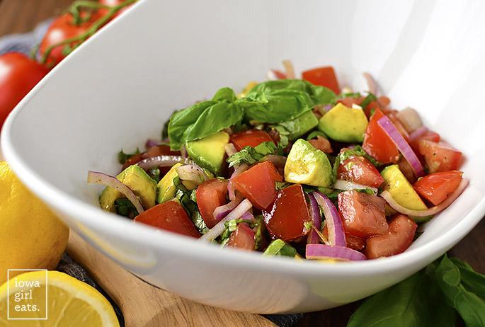 Bowl of Italian Guacamole Salad side dish