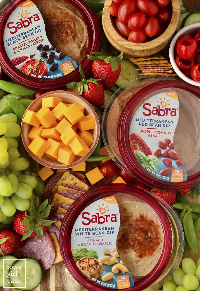 Mediterranean Party Board with Sabra Bean Dips