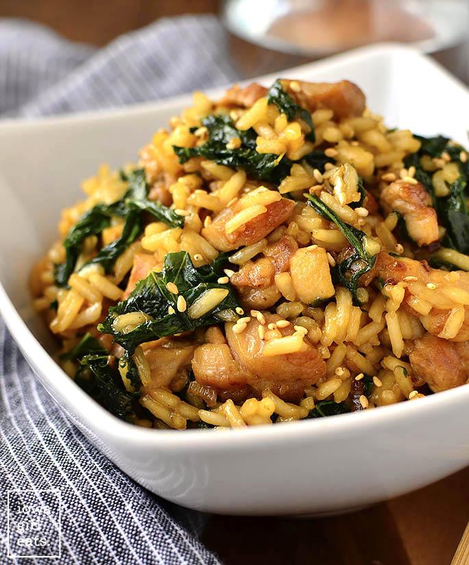 Sesame Chicken Fried Rice Bowl