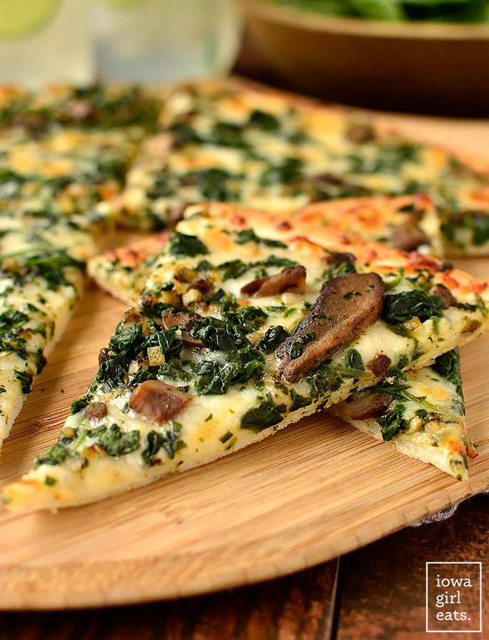 slice of gluten free frozen pizza cooked