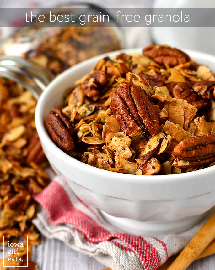 Bowl of The Best Grain Free Granola