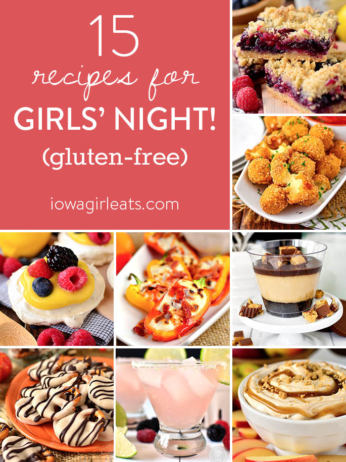 Recipes for Girls' Night photo collage