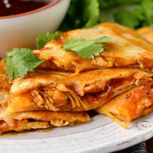 featured image of bbq chicken quesadillas