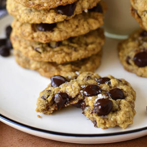 Brown Butter Oatmeal Chocolate Chip Cookies (GF)