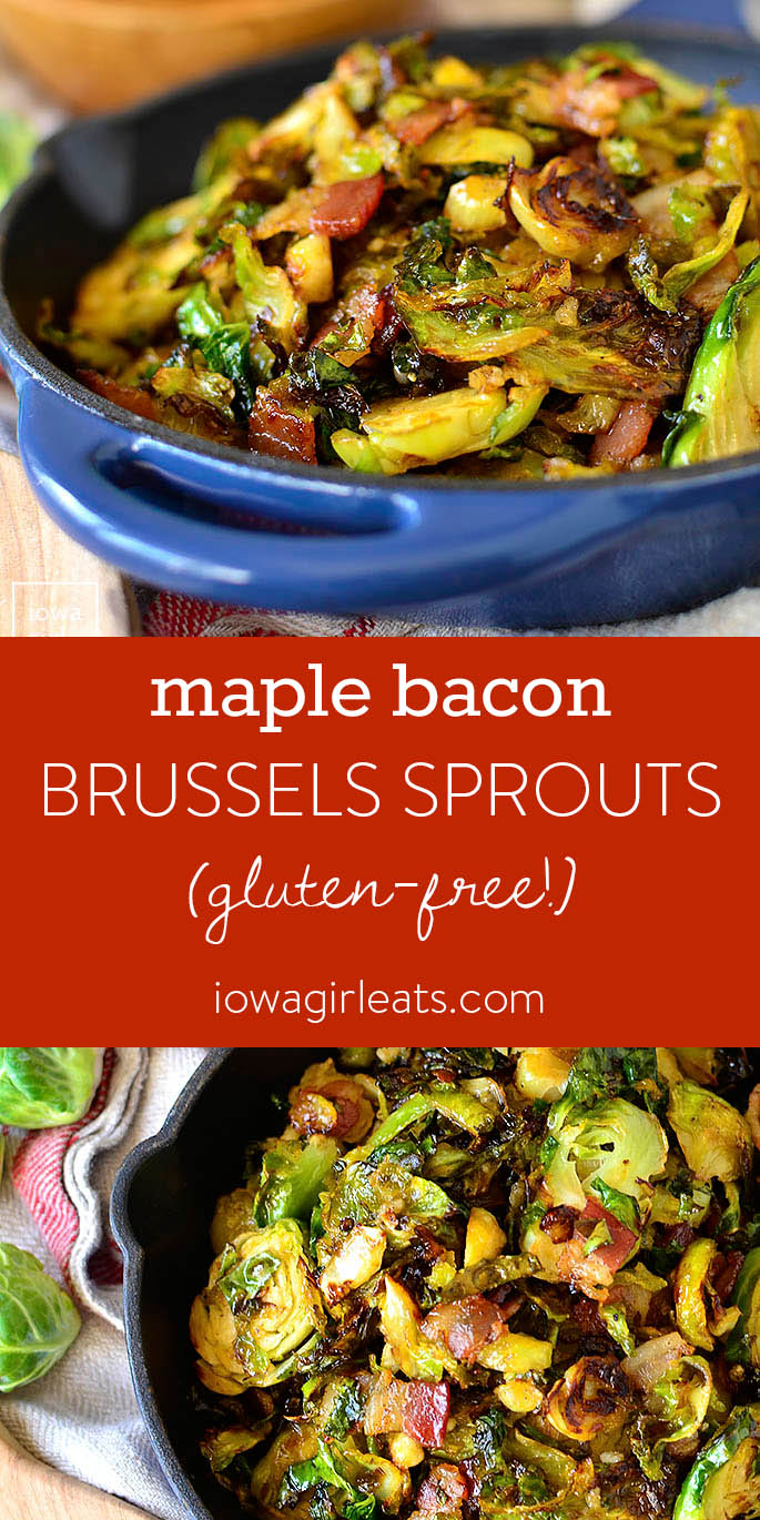 Photo Collage of Maple Bacon Brussels Sprouts
