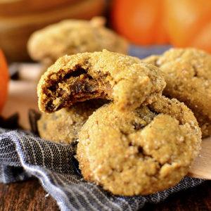 Soft Batch Pumpkin Gingersnap Chocolate Chip Cookies