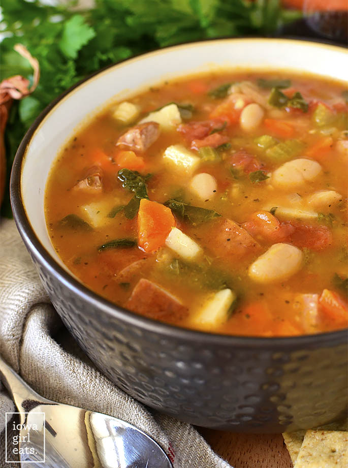 Close up photo of Tuscan Sausage and Vegetable Stew