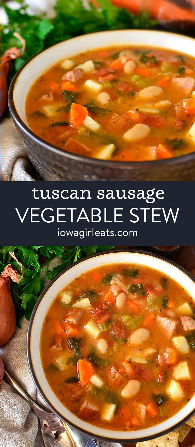 photo collage of tuscan stew
