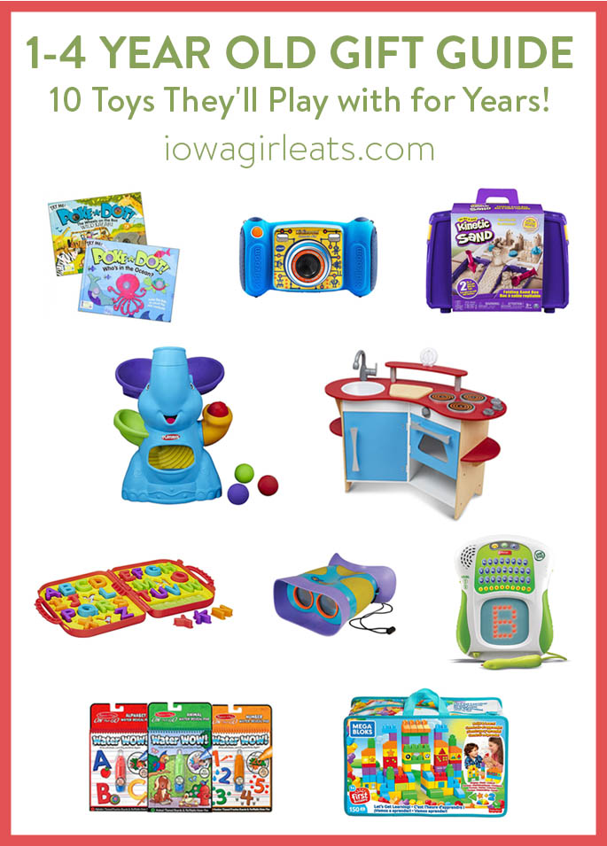 Photo collage of 1-4 year old gift guide