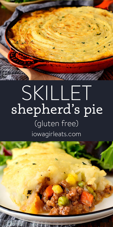 Photo collage of Skillet Shepherd's Pie
