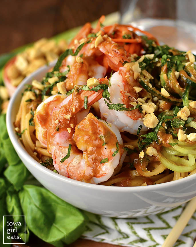 Close up photo of Summer Roll Noodle Bowls