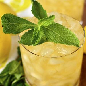 Lemon-Ginger Mint Juleps