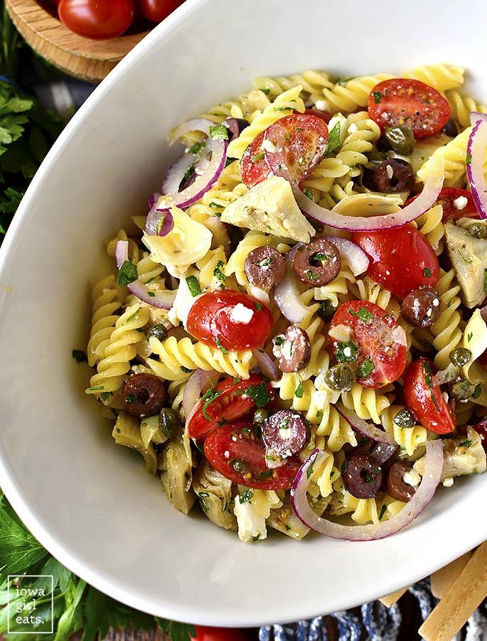 Overhead photo of Pasta Salad