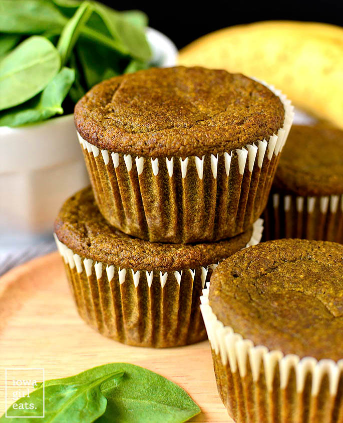green smoothie muffins on a plate