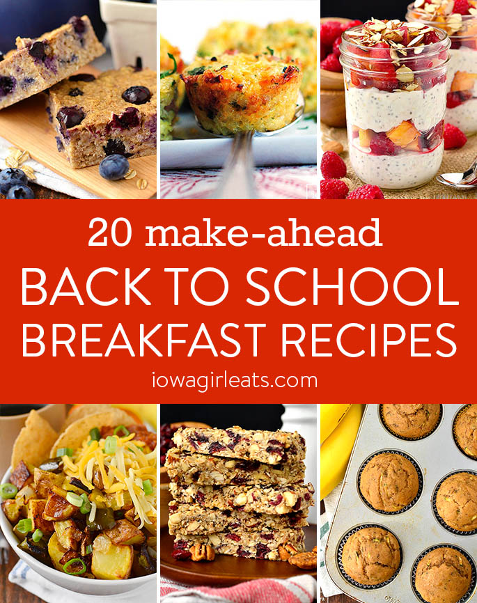 20 Make Ahead Back to School Breakfast Recipes photo collage