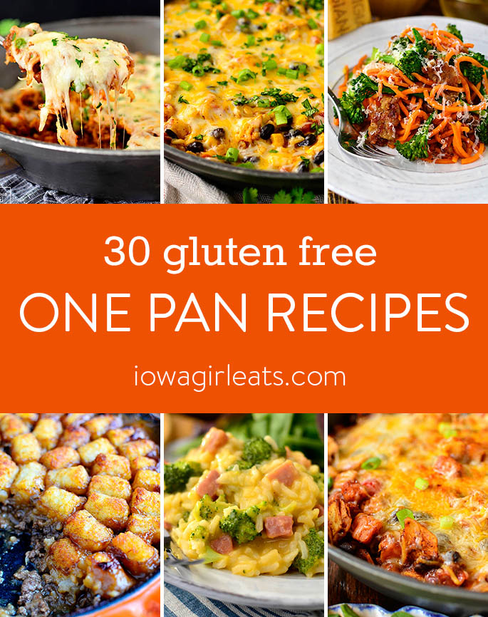 Photo Collage of gluten free One Pan Recipes