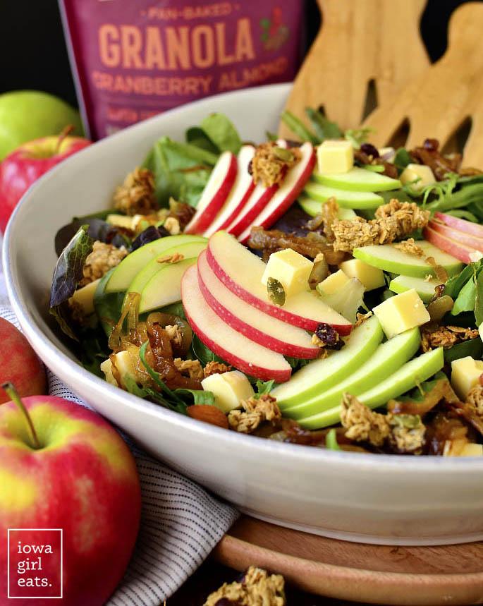 Serving bowl of Apple Orchard Salad
