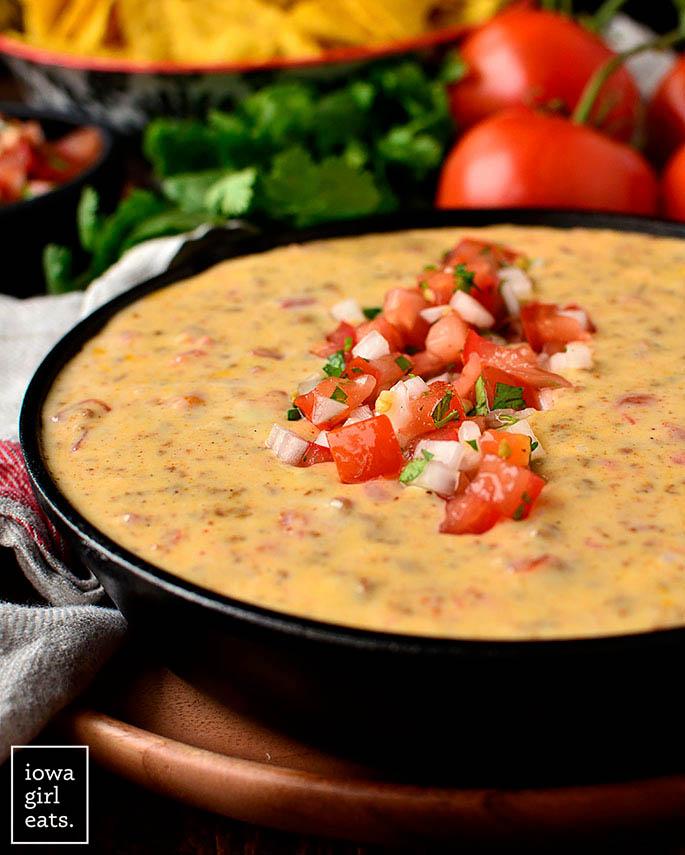 Bowl of Chorizo Queso Dip