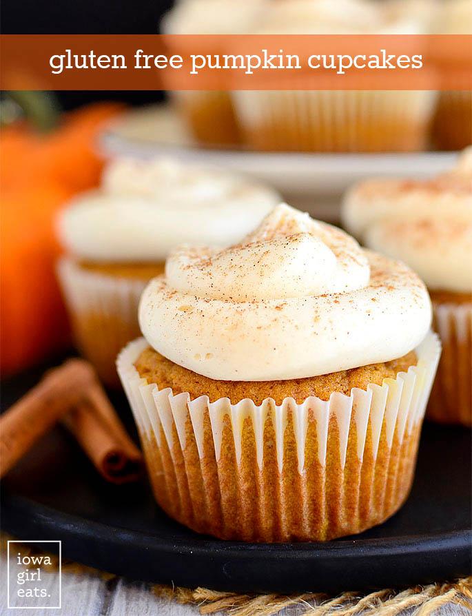 Gluten Free Pumpkin Cupcake on a plate
