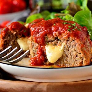 Stuffed Italian Meatball Mini Meatloaves
