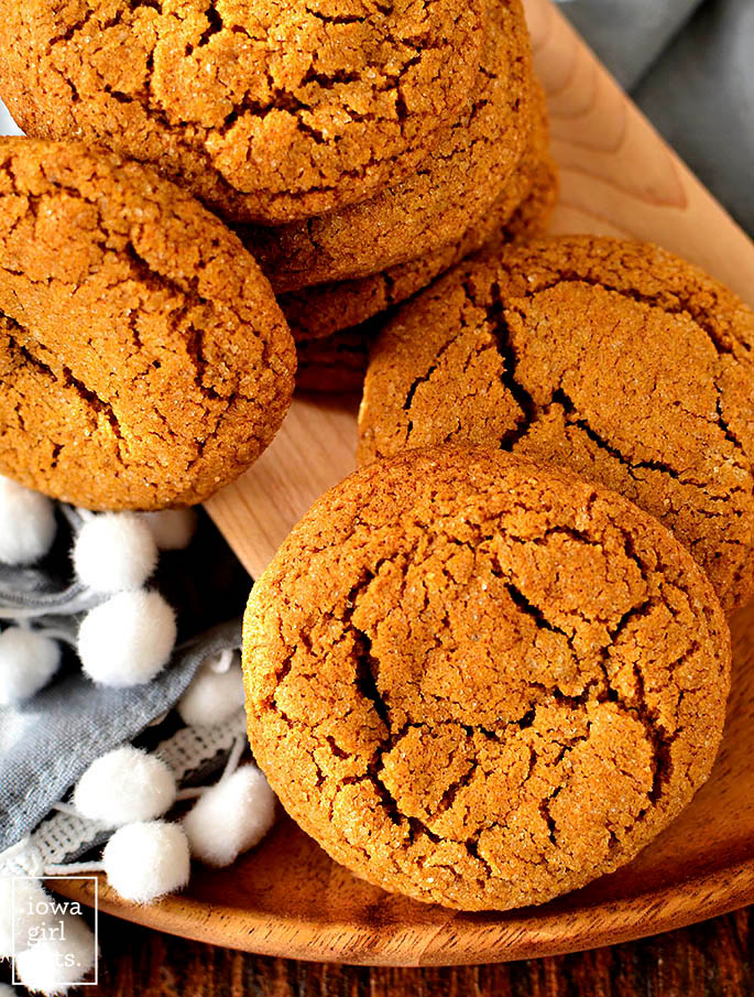 Overhead photo of Gluten Free Ginger Molasses Cookies