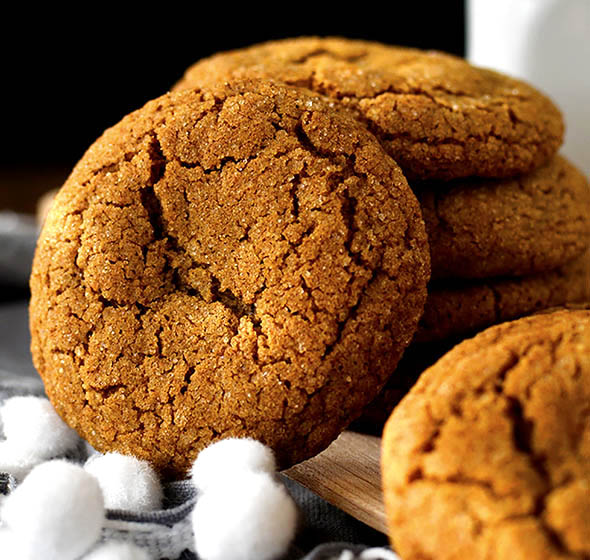 Gluten Free Ginger Molasses Cookies Gluten Free Christmas Cookies