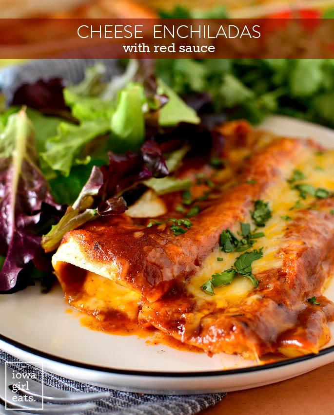 homemade cheese enchiladas on a plate