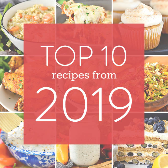 Featured image for top 10 recipes from 2019 on Iowa Girl Eats