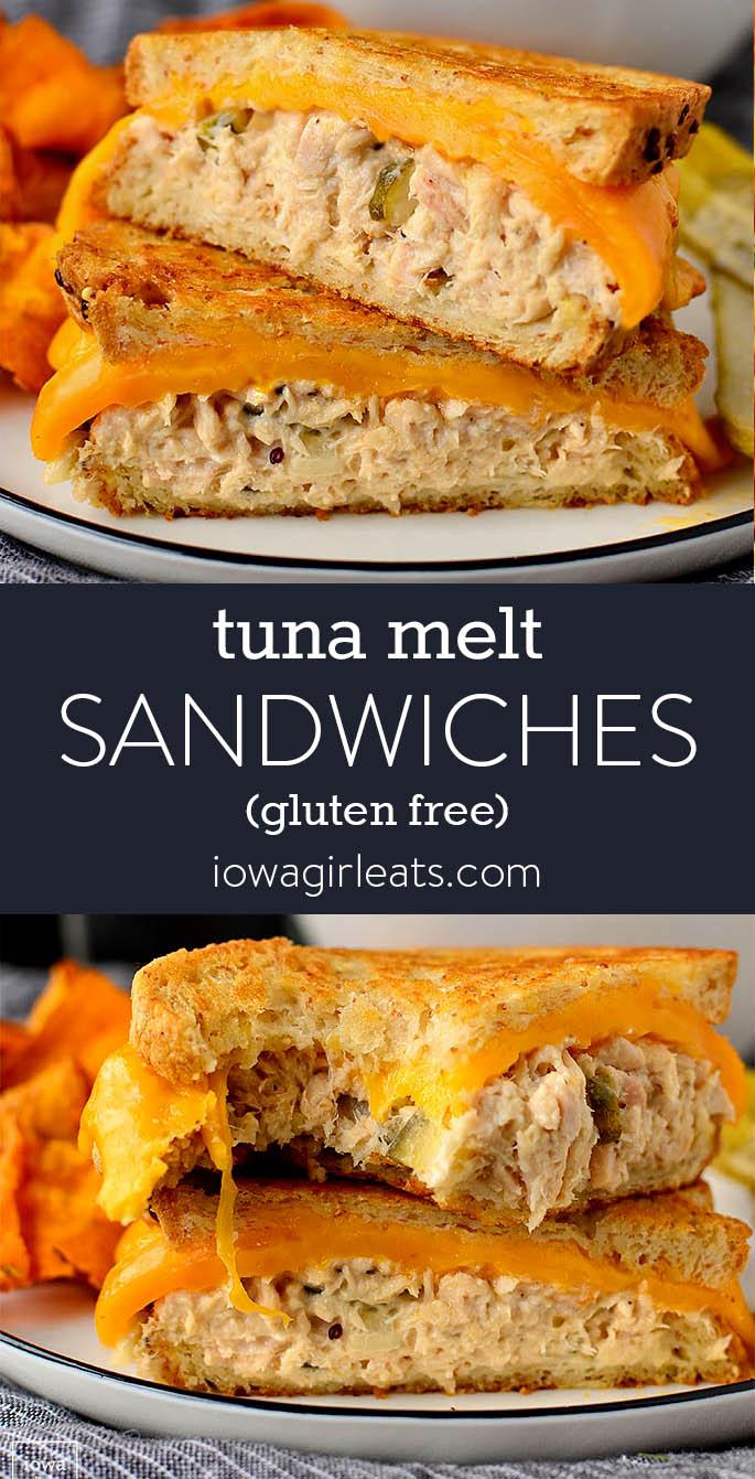 Photo collage of Tuna Melt Sandwiches