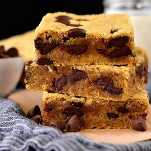 Gluten Free Chocolate Peanut Butter Blondies