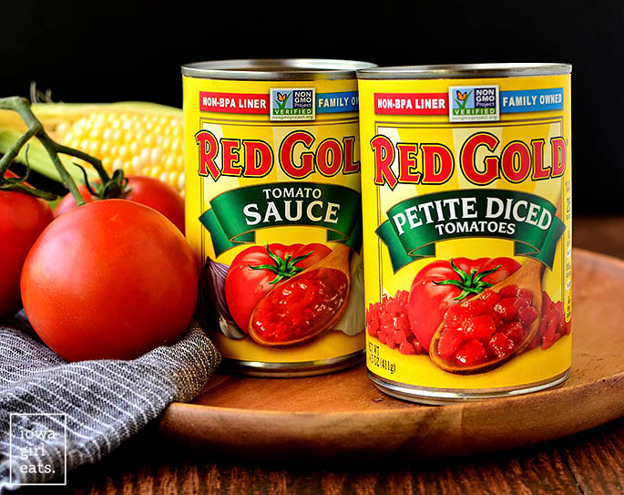 red gold canned tomato products