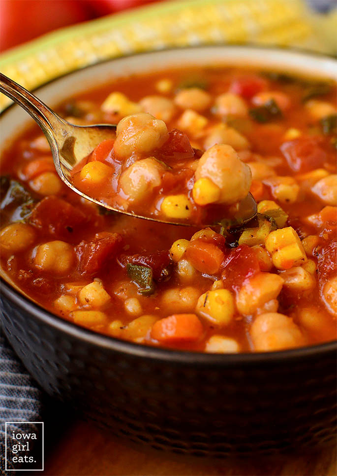 Spoonful of chickpea stew