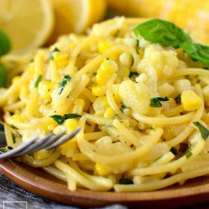 Creamy Sweet Corn Pasta with Basil
