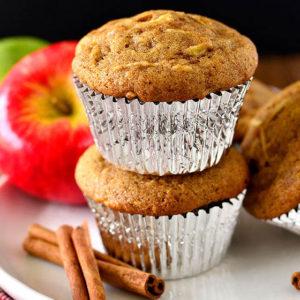 featured image of gluten free apple cinnamon muffins