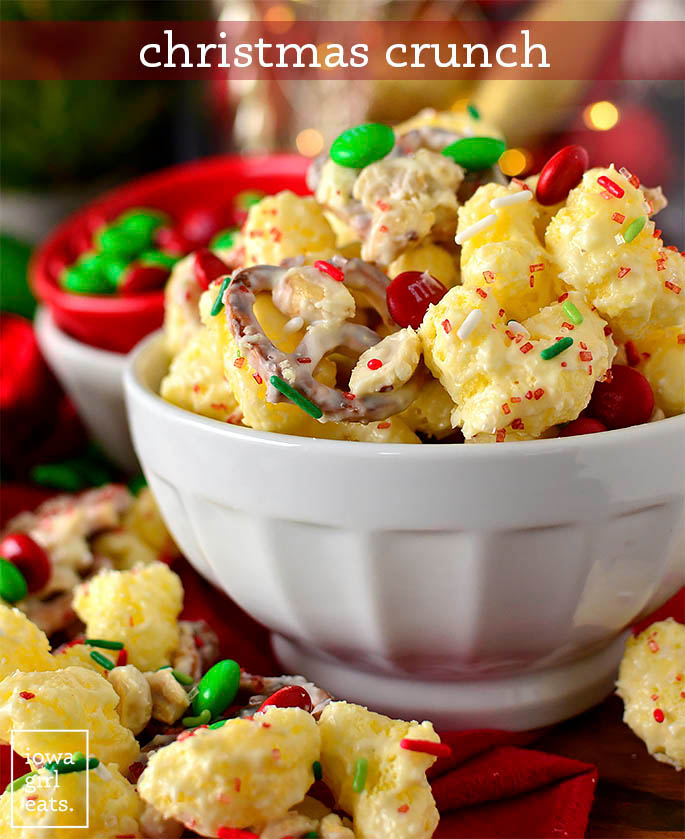Bowl of Christmas Crunch