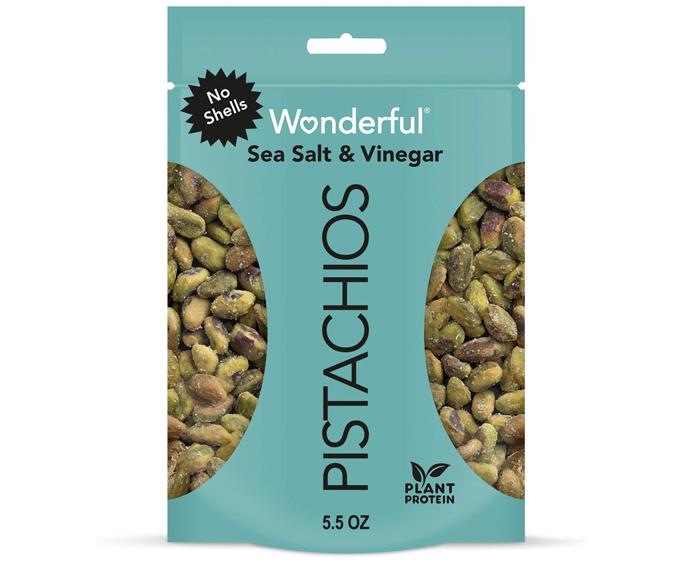 Wonderful Pistachios sea salt and vinegar flavor