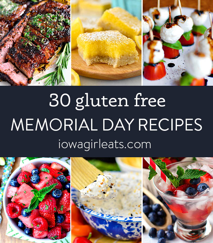 photo collage of memorial day recipes
