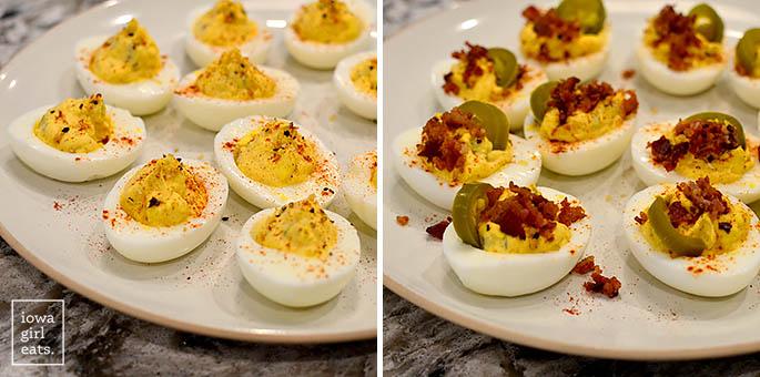 toppings on deviled eggs
