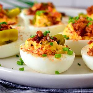 Loaded Deviled Eggs