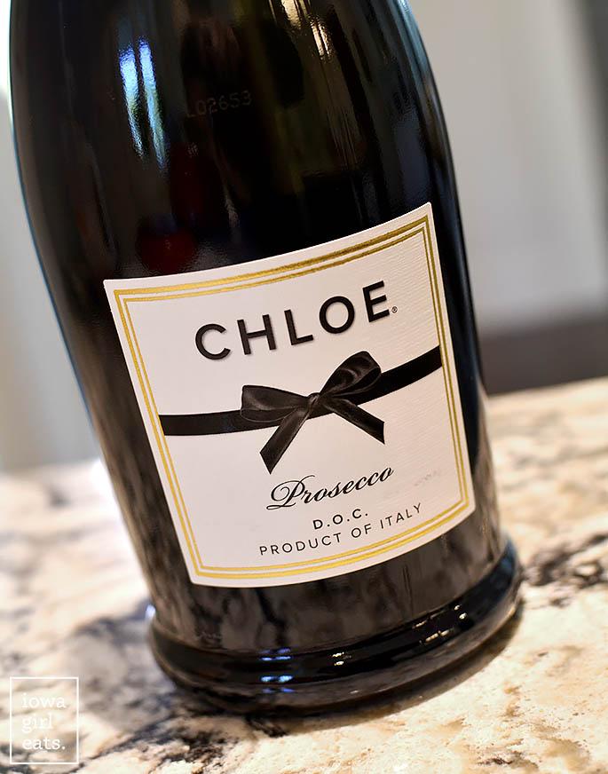 a bottle of Chloe Prosecco