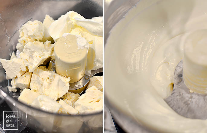 velvety whipped feta cheese in a food processor