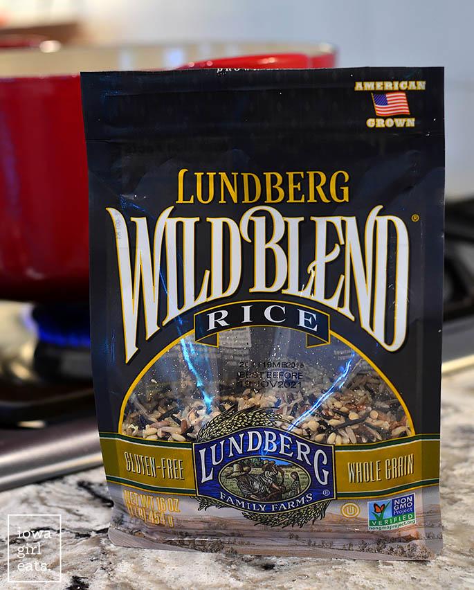 a bag of lundberg wild rice